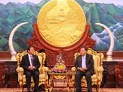 Le plus haut dirigeant laotien reçoit un vice-président de l'AN vietnamienne