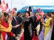 La présidente de l'AN Nguyen Thi Kim Ngan entame sa visite d'amitié officielle au Laos