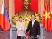 Entretien Tran Dai Quang et Rodrigo Roa Duterte