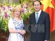 Tran Dai Quang reçoit la vice-présidente de la Chambre des communes du Royaume-Uni