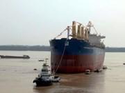Mise à flot d'un navire de 56.200 DWT