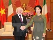 La présidente de l'Assemblée nationale reçoit le président irlandais Michael D. Higgins