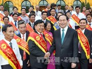 Le président Tran Dai Quang rencontre des agriculteurs exemplaires
