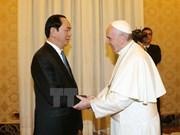 Tran Dai Quang rencontre le pape François