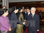 Le chef du PCV termine sa visite officielle au Laos à Bolikhamxay
