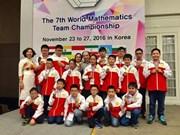 Championnat du monde de mathématiques par équipe 2016: 32 médailles pour le Vietnam