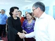 Nguyên Thi Kim Ngân rencontre l'électorat à Cân Tho