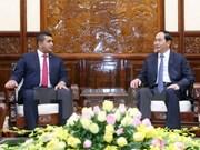 Le président Tran Dai Quang reçoit une délégation d'entrepreneurs malgaches