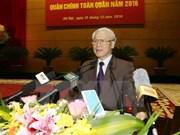 Le chef du Parti s'adresse à la Commission militaire centrale