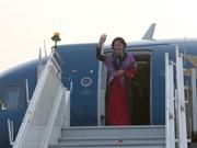 La présidente de l'AN termine sa tournée en Inde et aux EAU