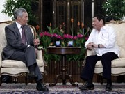 Le président philippin est à Singapour
