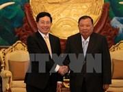 Le vice-PM et ministre des AE Pham Binh Minh en visite officielle au Laos