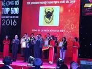 Le Top 500 des plus grandes entreprises du Vietnam