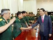 Le président Tran Dai Quang formule ses vœux du Tet à An Giang et à Can Tho