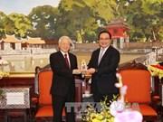 Le secrétaire général Nguyen Phu Trong formule ses voeux du Tet à Hanoi