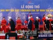 Le sud-coréen TKV met en chantier une usine de conteneurs à Nghê An