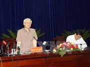 Le secrétaire général du Parti travaille dans la province de Bac Lieu