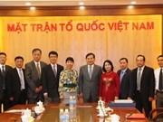 Vietnam-Chine: renforcement des relations entre le FPV et la CCPPC
