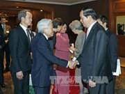 Tran Dai Quang dit au revoir à l'empereur japonais avant son départ pour Hue