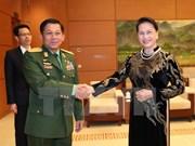 La présidente de l'AN plaide pour la promotion des liens Vietnam-Myanmar