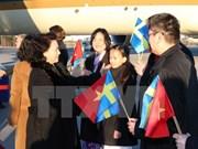 La présidente de l'AN Nguyên Thi Kim Ngân commence sa visite officielle en Suède