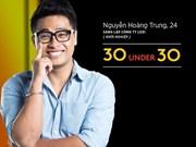 """Trois hommes d'affaires vietnamiens dans la liste """"30 Under 30 Asia"""""""