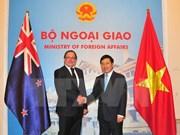 Approfondissement des relations avec la Nouvelle-Zélande