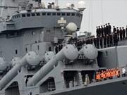 Des navires de la marine russe au port de Cam Ranh