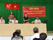 La présidente de l'AN rencontre les électeurs du district de Phong Diên de Cân Tho
