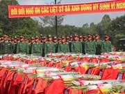 Nghe An : inhumation des restes de soldats tombés au Laos