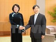 La vice-présidente du Vietnam rencontre des membres de la famille impériale du Japon