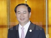 Forum à Pékin: Tran Dai Quang rencontre des dirigeants étrangers