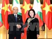 Le président du Parlement et de la Chambre haute du Myanmar achève sa visite au Vietnam