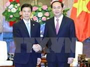 Le président Trân Dai Quang plaide pour le développement des relations commerciales avec la Chine