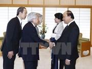 Le PM rencontre l'Empereur et l'Impératrice du Japon