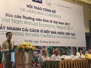 Publication d'un rapport sur l'économie du Vietnam en 2017