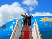Le président Tran Dai Quang entame sa visite officielle en Russie