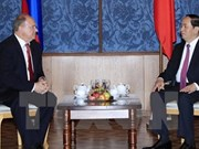 Le président Tran Dai Quang reçoit le président du Parti communiste russe