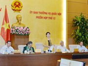 Clôture de la 12ème session du comité permanent de l'Assemblée nationale