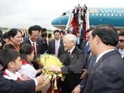 Cérémonie d'accueil à Phnom Penh du leader du PCV