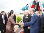 Le secrétaire général du PCV arrive à Phnom Penh pour sa visite d'Etat au Cambodge