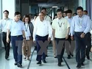 Le PM Nguyen Xuan Phuc travaille avec Samsung Electronics Vietnam Thai Nguyen