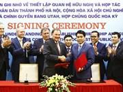Hanoi et l'État américain de l'Utah nouent une coopération