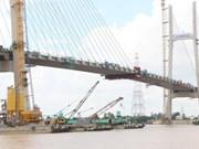 Dong Thap : raccordement du pont Cao Lanh sur le fleuve Tien
