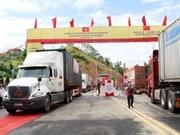 Vietnam-Chine : inauguration d'une route de transport de marchandises
