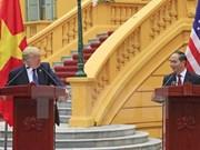 Le président américain  Donald Trump termine sa visite d'Etat au Vietnam