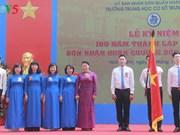 La présidente de l'AN au centenaire du collège Trung Vuong à Hanoï