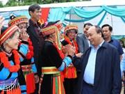 Le PM à la Fête de grande union nationale à Bac Kan