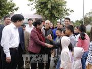 Nguyen Thi Kim Ngan à une fête de grande union nationale à Nghe An