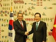 Le vice-PM Truong Hoa Binh rencontre le président de l'AN sud-coréenne